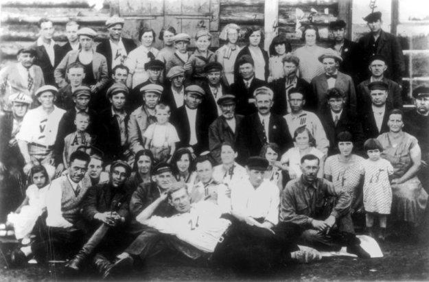 Deutsche Bergleute 1933 in Brjansk-Rudnik bei Charkow/Ukraine